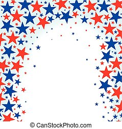 Red White Blue Stars - A red white and Blue Stars background