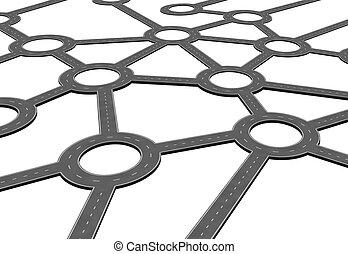 Business Road Network - Business road network and logistics...