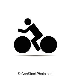 vector of bicycle icon