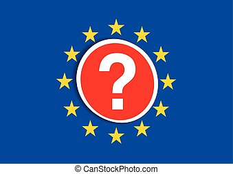 Brexit vector illustration - European Union Flag.UK Brexit....