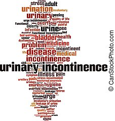Urinary incontinence-verticaleps - Urinary incontinence word...