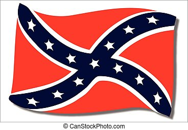 Confederate Flag Waving - The flag of the confederates...