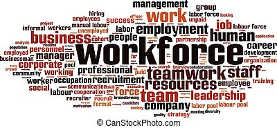 Workforce-horizoneps - Workforce word cloud concept Vector...