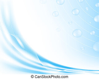 abstract blue background with drops and copyspace, EPS10