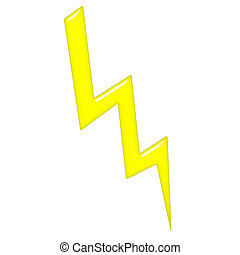 3D Lightning - 3d lightning isolated in white