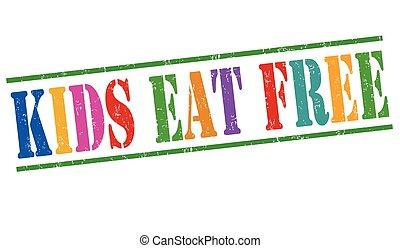 Kids eat free stamp - Kids eat free grunge rubber stamp on...
