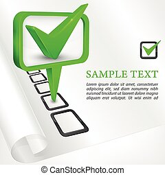 Check mark green vector illustration