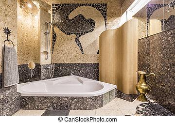 Palatial bathroom creating atmosphere of Orient - Very...