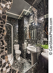 Sparkling bathroom lights resembling starry night - Fitted...