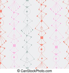 Scandinavian seamless pattern - Boho seamless pattern with...