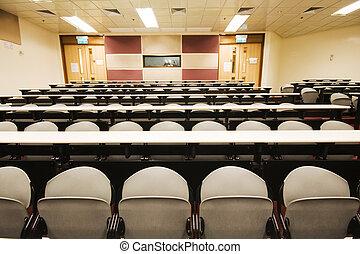 leacture, habitación, Muchos, sillas