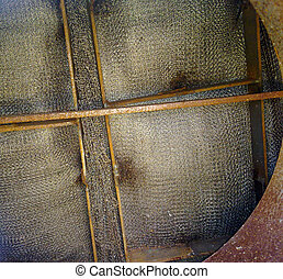 oil strainer - Oil field. The equipment of crafts , iron...