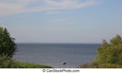View of the Gulf of Finland in Kronstadt, Russia