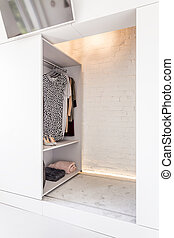 Plenty of room to store your clothes - Shot of an open...
