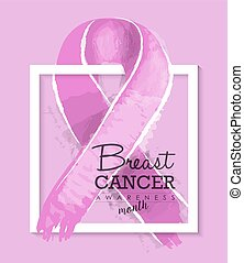 Breast cancer awareness ribbon illustration design
