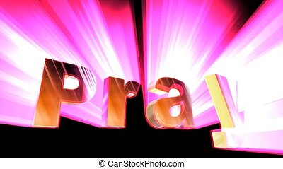 Pray Animation - A motion graphic video animation clip with...