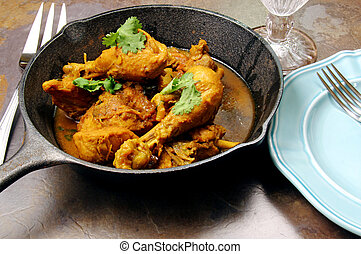 North Indian spicy chicken curry