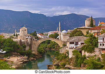 Old Bridge in Mostar - Bosnia and Herzegovina - architecture...