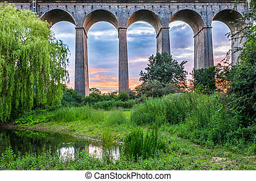 Sunset at Digswell Viaduct in the UK - Sunset at Digswell...