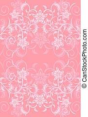 Flowers pink vector background