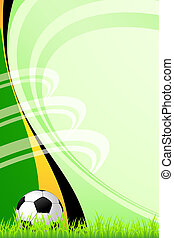 Soccer background - Background with a soccer ball for your...