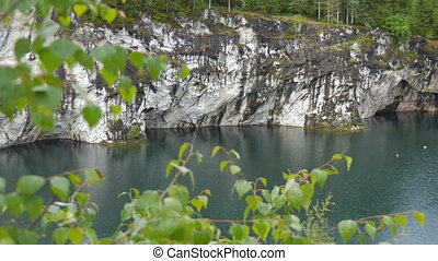 Beautiful Landscape with Green Water in Marble Canyon...