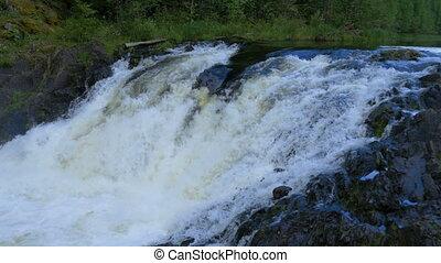 Mountain waterfall in North Karelia. - Mountain waterfall....
