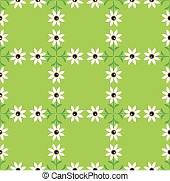 Flowers green seamless background