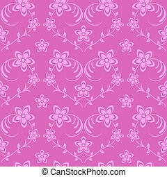 Flowers seamless background pink