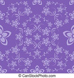 Flowers seamless violet background