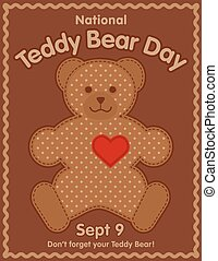 Teddy Bear Day, Rick Rack Frame