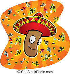 Mexican Jumping Bean - A happy cartoon Mexican jumping bean...