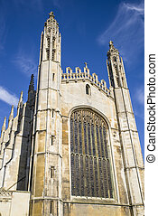 Kings College Cambridge - A view of the magnificent facade...