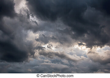 Beautiful storm sky with dark clouds, apocalypse