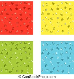 Squiggle Pattern - A repeating seamless pattern of colorful...