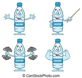 Water Plastic Bottle Collection 3 - Water Plastic Bottle...