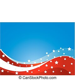USA flag theme - USA flag theme background with place for...