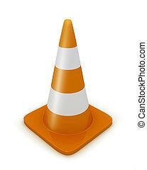 Road cone diagonal - Road cone in diagonal view