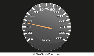 Video of isolated speedometer - tachometer, accelerating and...