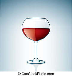 Red Wine Glass part of the Alcohol Glass Icons Set