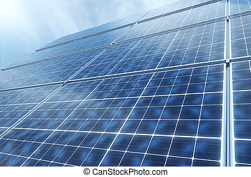 Solar panels - Concept of technology innovations in energy...