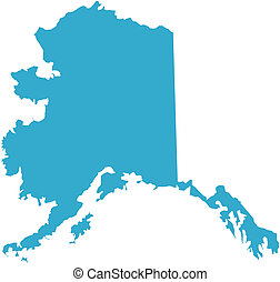 Alaska state of USA - There is a map of Alaska state in USA