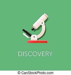 Microscope icon. Scientific Discovery. Modern flat design.