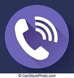 incoming Phone Call vector icon
