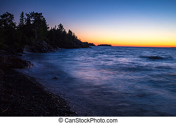 Sunset Over Lake Superior - Copper Harbor Sunset Over Lake...