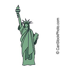 liberty statue isolated icon design