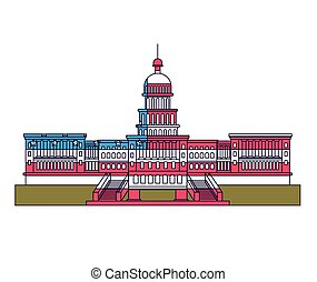 united states capitol isolated icon design, vector...