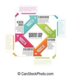 Quartet Loop Infographic - Vector illustration of quartet...