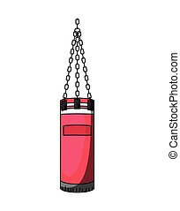 boxing bag isolated icon design