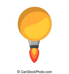 rocket launcher of bulb isolated icon design, vector...